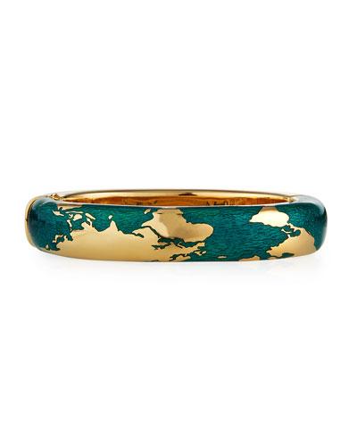 18k Enamel Day Bracelet, Size M