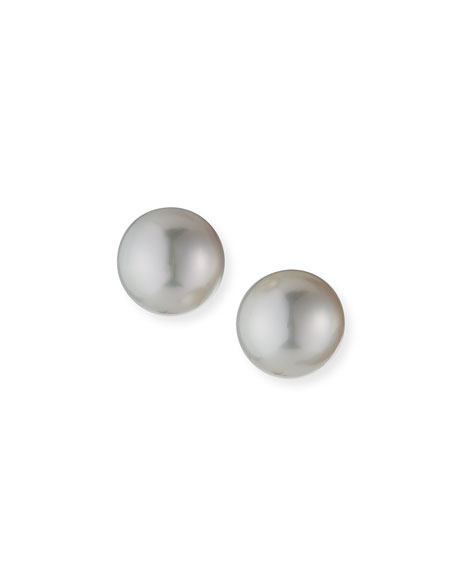 Assael South Sea Cultured 18k White Gold Pearl Stud Earrings