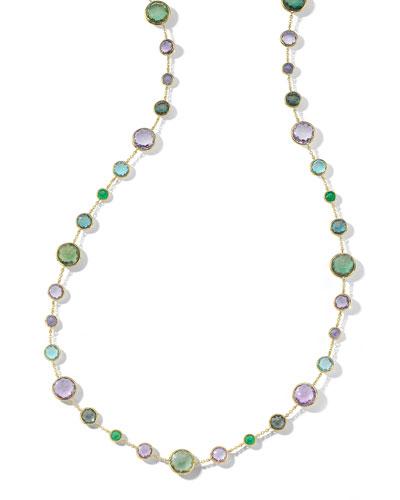 18k Gold Rock Candy Lollitini Necklace in Hologem, 36