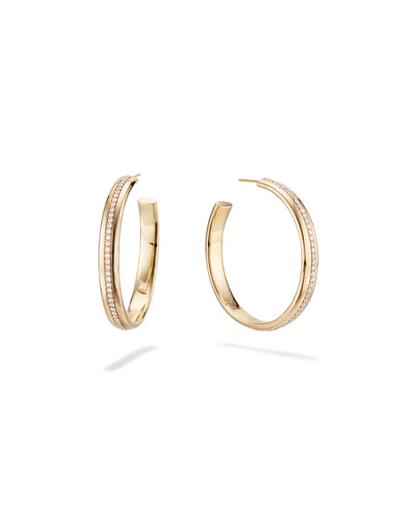 Lana 14k Gold 40mm Flawless Curve Hoop Earrings