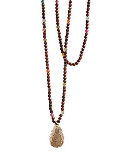 Smoky Quartz Kwun Yun Necklace