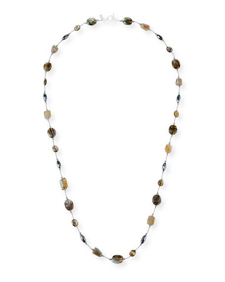 "Margo Morrison Long Stone & Crystal Necklace, 35"""