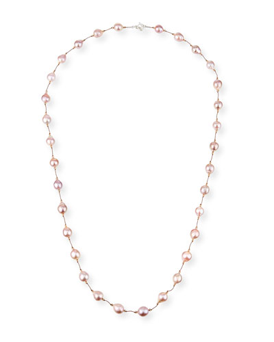 Long Baroque Pearl Necklace, 35