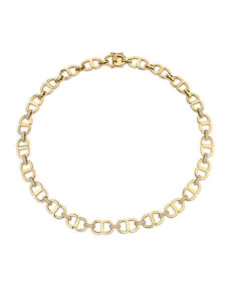 Sydney Evan Love Large 14k Diamond Chain-Link Necklace