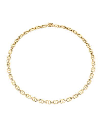 Love Small 14k Diamond Chain-Link Necklace