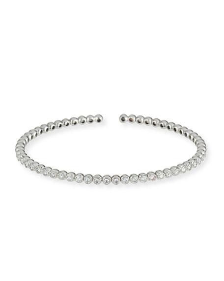 Miseno 18K White Gold Marea Single-Row Diamond Bracelet