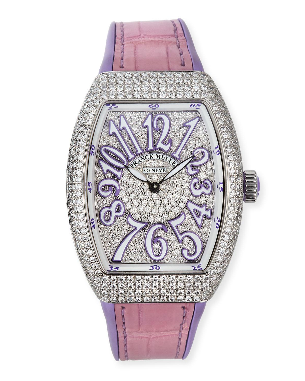 Lady Vanguard Diamond Watch w/ Alligator Strap
