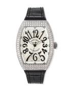 Franck Muller Vanguard 35mm Stainless Steel Diamond-Bezel Watch