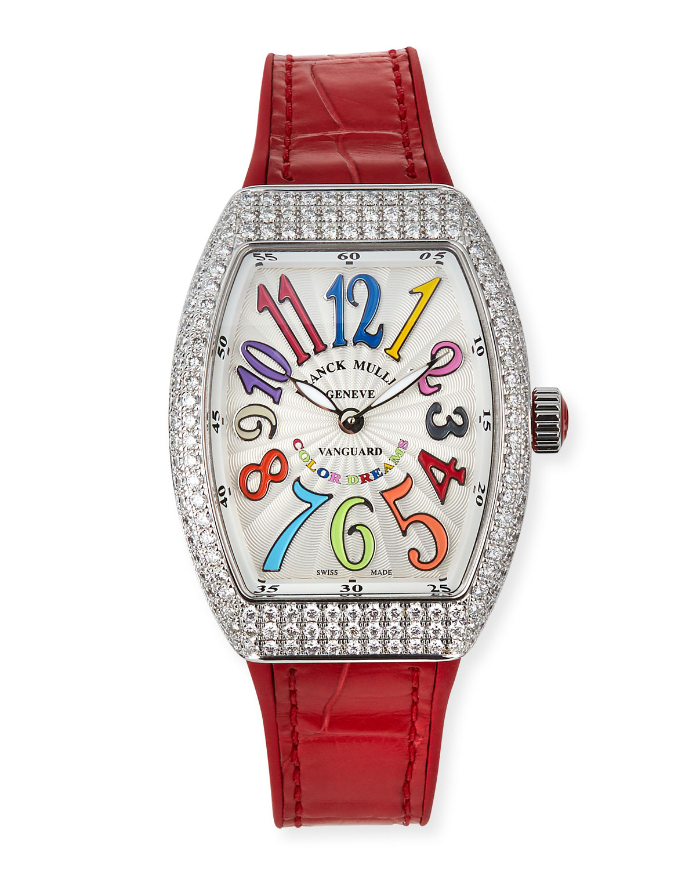 Lady Vanguard Color Dreams Diamond Watch w/ Alligator Strap