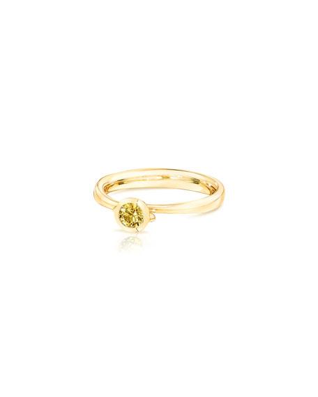 Tamara Comolli Bouton Solitaire 18k Yellow Sapphire Ring