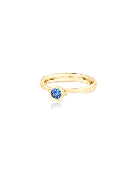 Tamara Comolli Bouton Solitaire 18k Blue Sapphire Ring