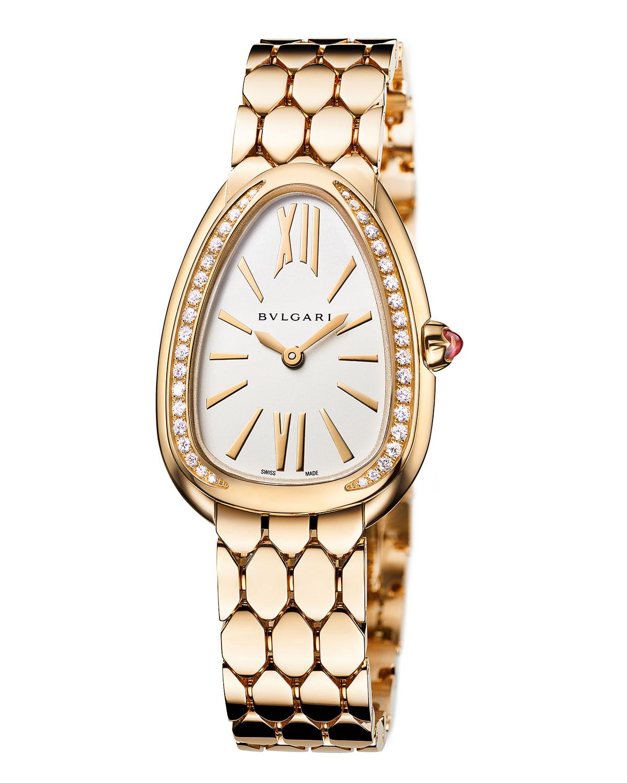 Serpenti Seduttori 18k Yellow Gold 33mm Watch w/ Bracelet