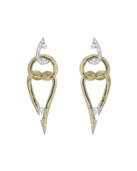 Nikos Koulis Feelings 18k Double-Loop Diamond Earrings