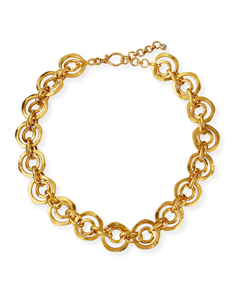 Gurhan 24K Double-Link Necklace w/ Diamond