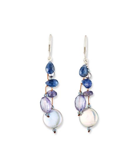 Margo Morrison Coin-Pearl Dangle Earrings