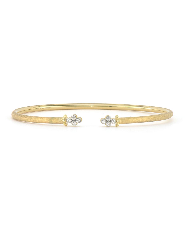 Jude Frances 18K Provence Diamond-Quad Open Bangle