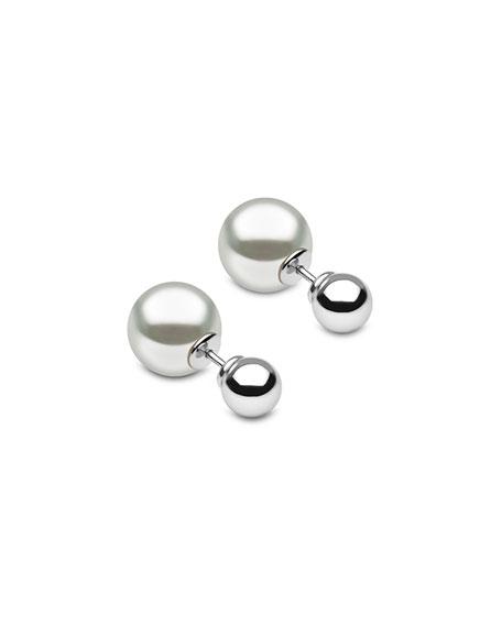 Yoko London 18k White Gold Double-Sided South Sea Pearl Earrings