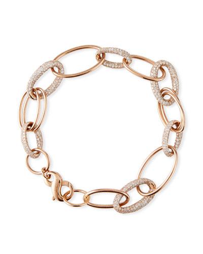 Stardust 18k Rose Gold Diamond-Link Bracelet