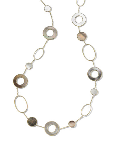 18k Gold Polished Rock Candy Multi-Slice Necklace in Sabbia, 37