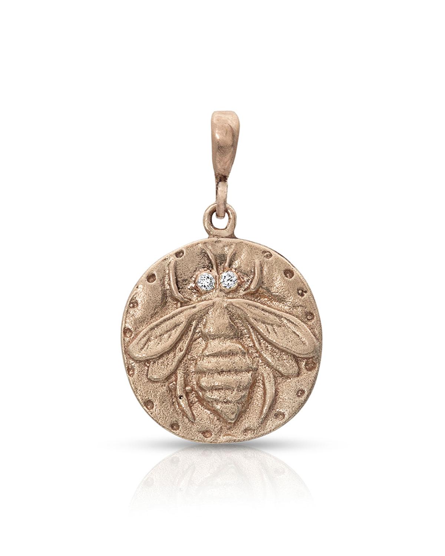 18k Rose Gold Bee Coin Enhancer