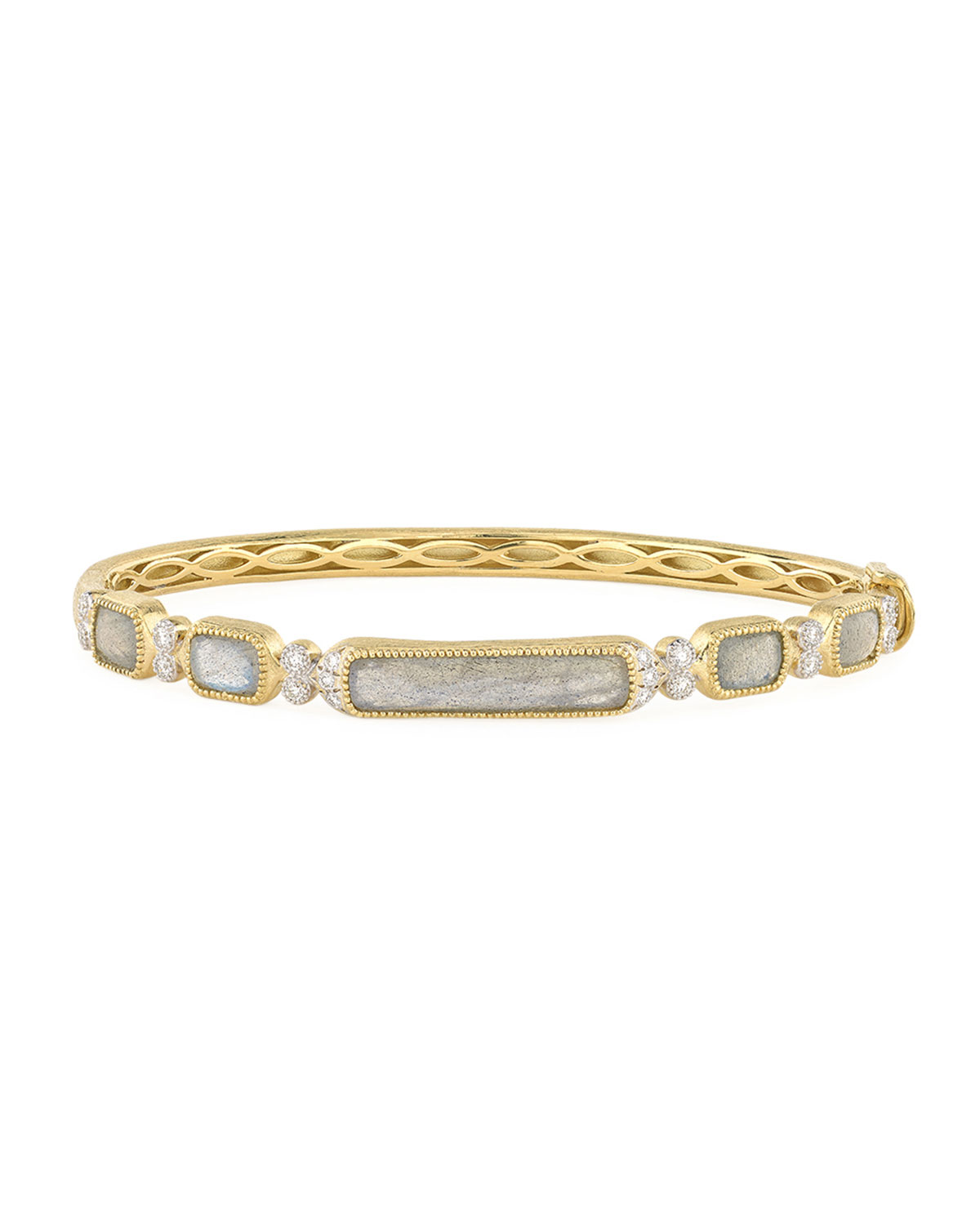 Jude Frances Moroccan 18K Labradorite/Diamond Bangle