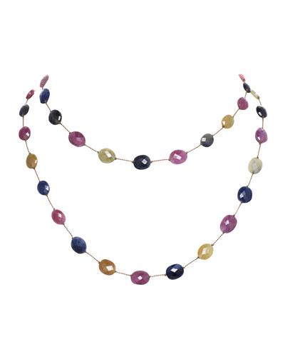 Long Multi-Sapphire Necklace, 35