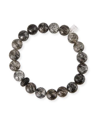 Black Diamond 1-Donut Quartz Bead Bracelet