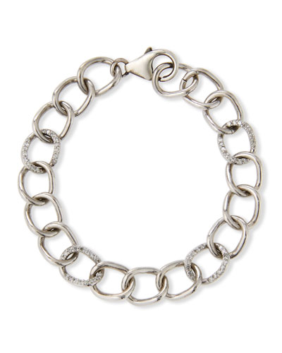 10mm Diamond-Link Chain Bracelet