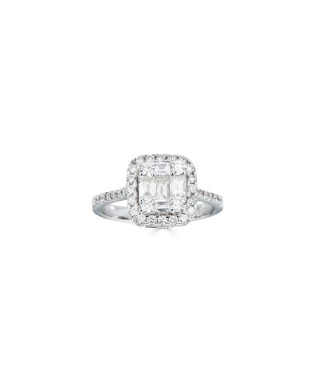ZYDO 18k White Gold Multi-Diamond Ring, Size 6.75