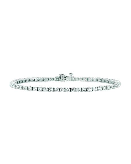 NM Diamond Collection 18k White Gold Diamond Tennis Bracelet, 4.48tcw