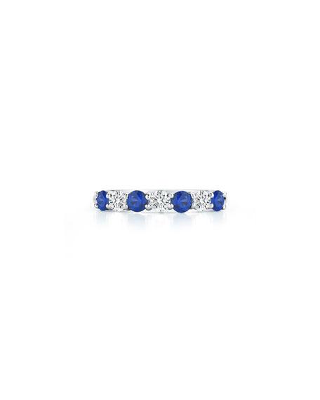 NM Diamond Collection Platinum Blue Sapphire/Diamond Ring