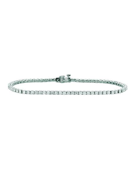 NM Diamond Collection 18k White Gold Diamond Tennis Bracelet, 2.95tcw