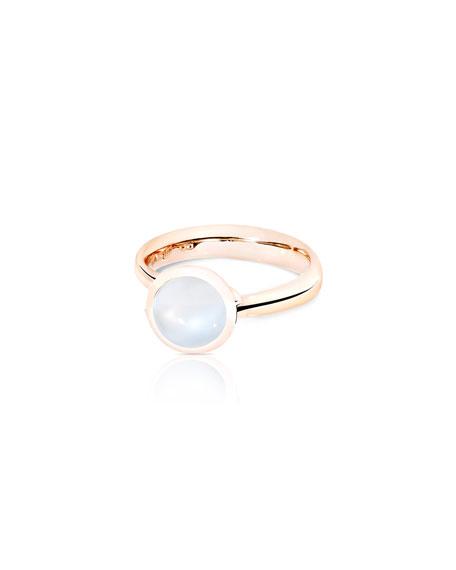 Tamara Comolli Bouton 18k Rose Gold Small Sand Moonstone Ring