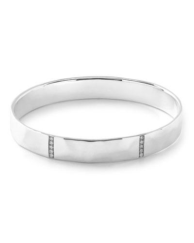 925 Senso 5-Section Bangle Bracelet with Diamonds