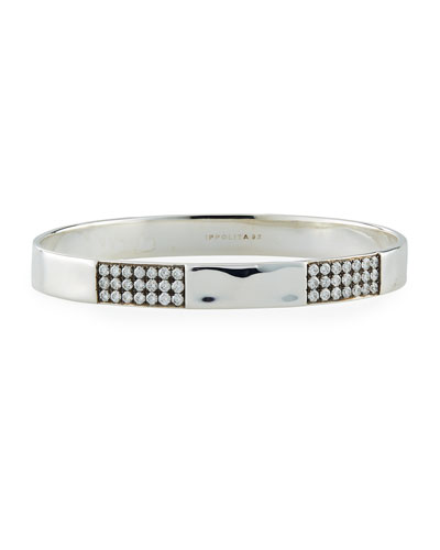 Stardust 3-Station Wide Bangle with Diamonds