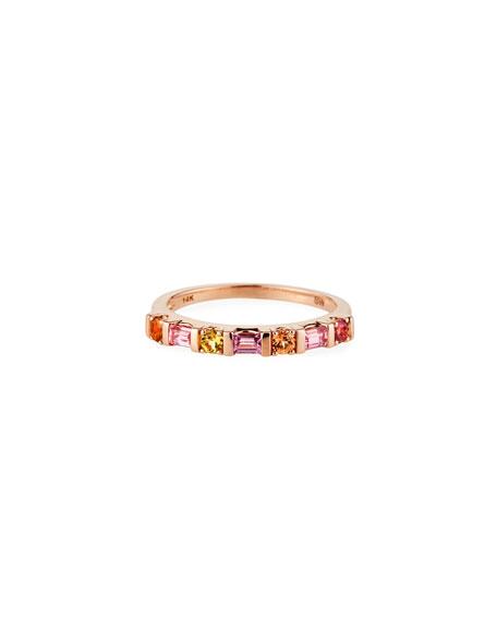 Stevie Wren 14K Rose Gold Multi-Shape Semiprecious Stone Ring, Pink, Size 7