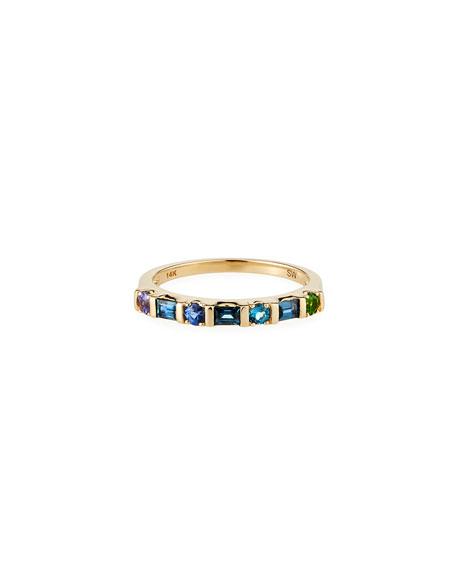 Stevie Wren 14K Multi-Shape Semiprecious Stone Ring, Blue, Size 7