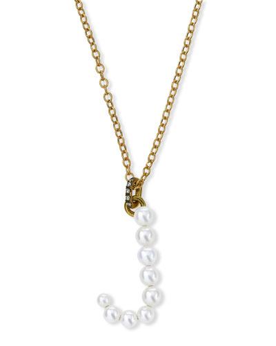 Prive 18k Pearl Letter J Necklace