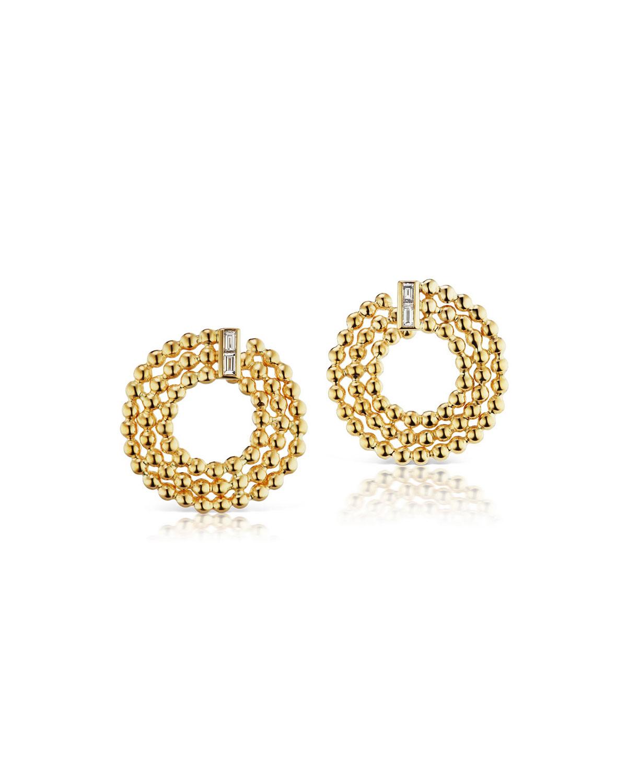 Flapper 18k Yellow Gold Crescent Earrings