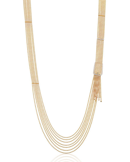 Maria Canale Flapper 18k Yellow Gold Diamond Buckle Necklace