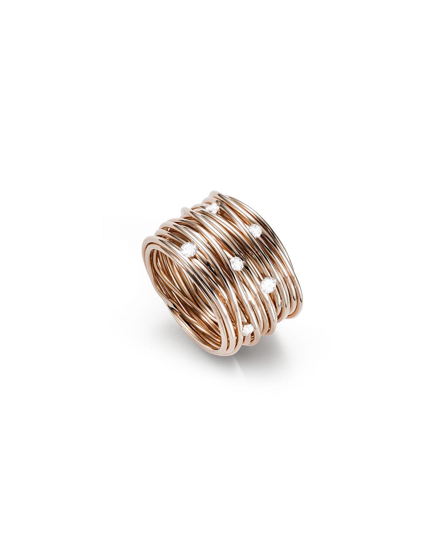 18k Rose Gold Tibet Diamond Ring