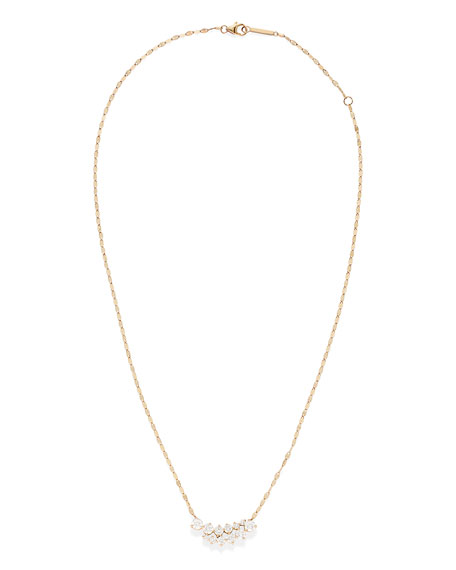 Lana 14k Double Graduated Crawl Pendant Necklace