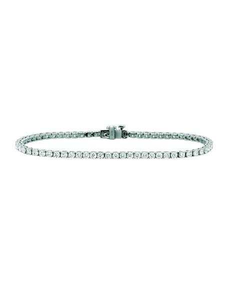NM Diamond Collection 18k White Gold Diamond Tennis Bracelet, 3.9tcw