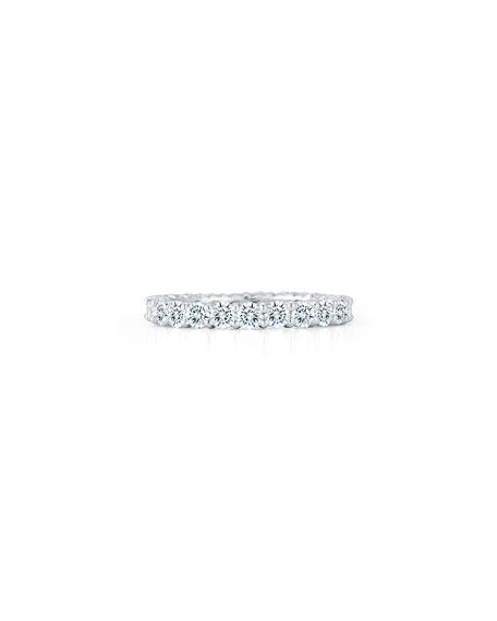 NM Diamond Collection Platinum Round Diamond Eternity Ring, 2.07tcw