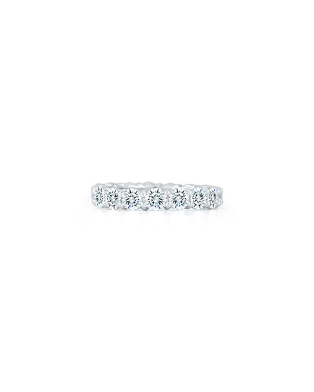 NM Diamond Collection Platinum Round Diamond Eternity Ring, 3.57tcw