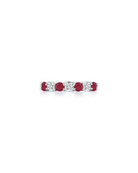 NM Diamond Collection Platinum Ruby/Diamond Ring