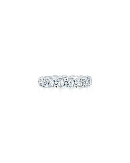 NM Diamond Collection Platinum Round Diamond Eternity Ring, 5.28tcw