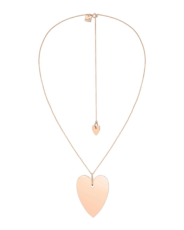 18k Rose Gold Angele Jumbo Heart Chain Necklace