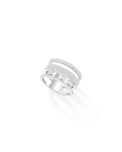 Move Romane White Gold Pave Ring