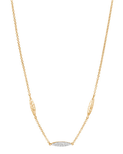 Classic Chain 18k Gold 1.8mm Diamond Spear Necklace